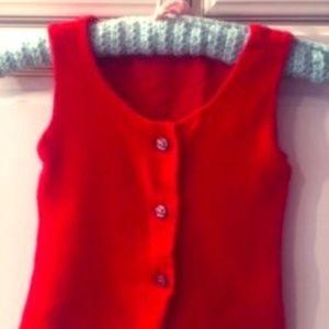 Vintage, 70's Red Children's Vest